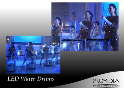 LED Water Drums